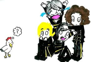 The Black Parade vs. Chicken by ZOMBIES-GO-RAWR