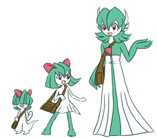 Ralts (Ellie)'s Possible Evolutions by Galactic-Rainbow