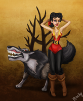Disney Villainettes - Gaston by blastedgoose