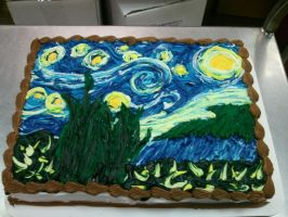 Starry Night Cake by Larissa-Rasputin
