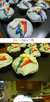 Rainbow DASH Cupcakes :D by Blemy