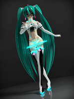 Racing Miku 2012 (Keyshot) by Birko91