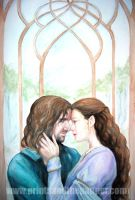 Aragorn and Arwen by LinzArcher