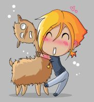 Llama for a Llama... or a hug by RockingTheTardis