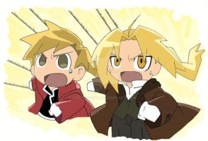 Go Elric Brothers by freek4god
