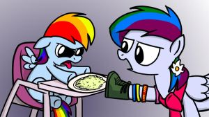 My Little Dashie 8 - 'Eat your mush' by petirep