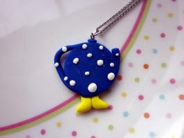 Teapot with Feet Necklace by JewelleryByABC
