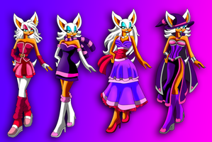 Rouge outfits set 2 by WinterBreez