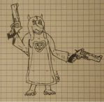 Toriel but with guns. by Tagpower
