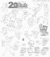 Nicktoons Take a Sketch Dump 2 by Coonfoot