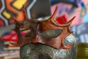 Leather Horned Handmade Mask by OsborneArts