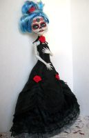 Monster High Custom Ghoulia Day of the dead 2 by AdeCiroDesigns