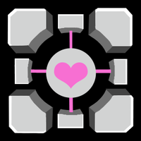 Weighted Companion Cube by Keyhole-Cat