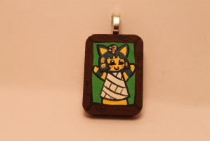 Animal Crossing Ankha Tiny necklace Portrait by TiellaNicole