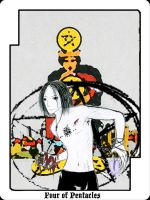 Tarot project Pentacles - four by Armenius