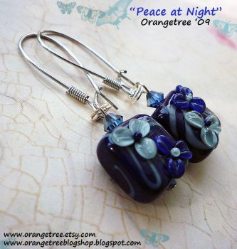 Peace at Night Earrings by littleorangetree