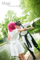 Hakuryuu Kisses Morgiana - Magi Cosplay [HakuMor] by firecloak