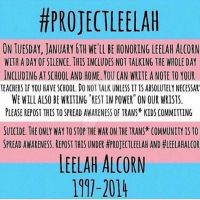 Do it for Leelah. #ProjectLeelah by ThetaSigmaIV