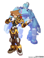 Commission : Glyde and The Rafale (ZX style) by Tomycase