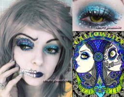 HallowLilly Halloween Makeup Look by cherrybomb-81