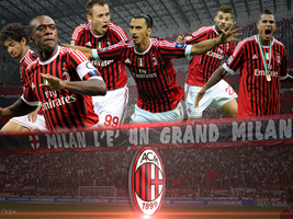 Wallpaper AC Milan || TheGraphicsArts - Nola - TGA by TheGraphicsArts