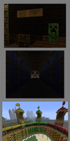 Minecraft Hogwarts Silliness by death-wishes