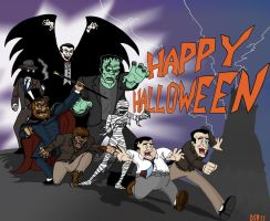 Halloween Cartoon 2011 by Gonzocartooncompany