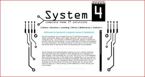 System4 Website 2007 by Fourthletter