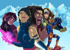 Xmen 90's colors by amilcar-pinna