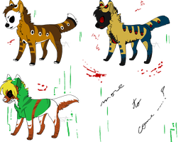 Creepypastas adopts#2 - CLOSED by SwarThylacine-Adopts