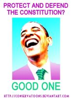 Good One - to Obama by Conservatoons