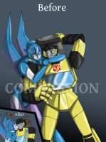 Sunstreaker and Rogue by Ty-Chou