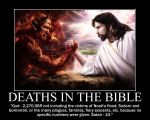 Deaths in the Bible (Satan VS. God) by fiskefyren