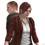 Jake Muller and Claire Redfield by Hatredboy