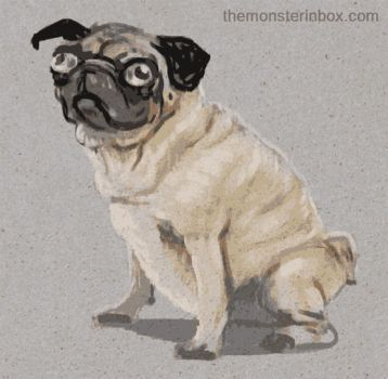Porky the pug by juhoham