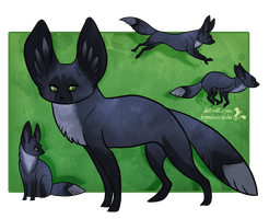 Bat Eared Fox by Hymnsie