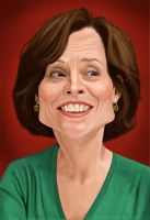 Sigourney Weaver by markdraws