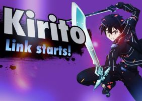 Kirito - Super Smash bros. For 3DS/Wii U by Triforce-Knight95