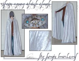 Silver Gray Elvish Cloak by ValkAngie