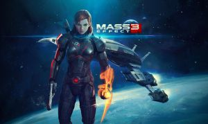 Mass Effect 3 Wallpaper - Jane Shepard by TheBakaArts