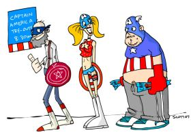 Captain America Tryouts by striffle