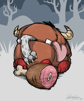 Don't Starve: Ham Handed by reynaruina