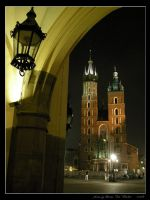 Night in Cracow: St Mary's by Lady-CaT