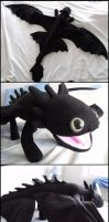 Toothless plush by Experiment-713