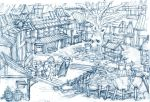 town sketch by toshi13go
