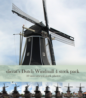Dutch Windmill 4 stock pack by dierat-stock