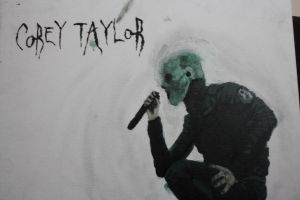 Corey Taylor Painting by negative-creeq