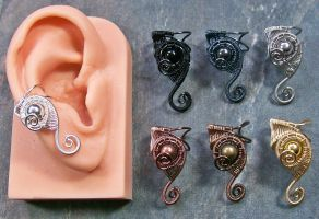 Customizable Half-Sized Web-Coil Ear Cuff by HeatherJordanJewelry