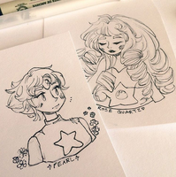 Steven Universe Sketches 2 of 2 by pomifumi