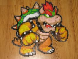 Bowser bead sprite by gfroggy87